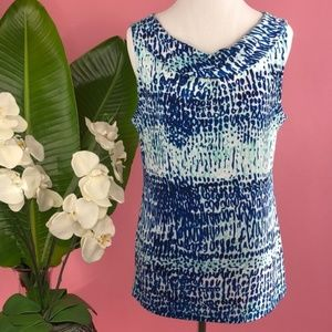 Ann Taylor | NEW Blue Leopard Sleeveless Blouse